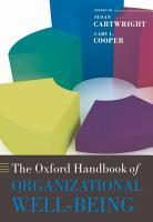The Oxford Handbook of Organizational Well being PDF
