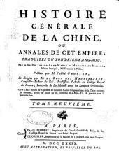 Histoire genérale de la Chine: ou Annales de cet empire, Volume9