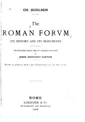 The Roman Forvm: Its History and Its Monuments