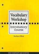 Vocabulary Workshop Book