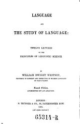 Language And The Study Of Language 12 Lectures On The Principles Of Linguistic Science 2 Ed Book PDF