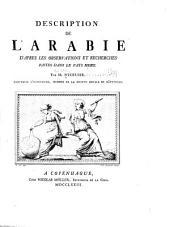 Description de l'Arabia d'apres les observations et recherches faites dans le pays mome