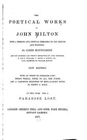 The Poetical Works of John Milton: Paradise lost