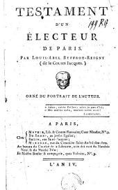 Testament d'un électeur de Paris