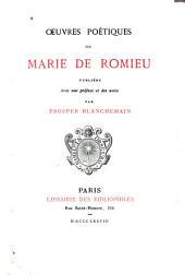 Oeuvres poétiques de Marie de Romieu
