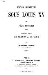 ptie. Un sermon à la cour