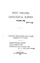 West Virginia Geological and Economic Survey: Volume 1