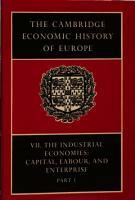 The Cambridge Economic History of Europe PDF