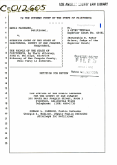 California. Supreme Court. Records and Briefs: S024841, Petition for Review