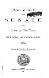 Documents of the Senate of the State of New York: Volume 10