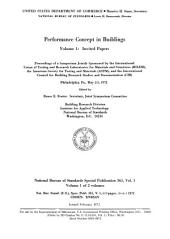 Performance Concept in Buildings: Proceedings of a Symposium, Volumes 1-2