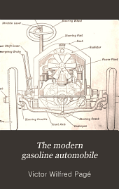 The Modern Gasoline Automobile: Its Design, Construction, Maintenance and Repair; a Practical, Comprehensive Treatise Defining All Principles Pertaining to Gasoline Automobiles and Their Component Parts
