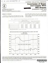 Current Industrial Reports: Inventories of brass and copper wire mill shapes. M33K