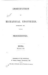 Proceedings - Institution of Mechanical Engineers: Parts 1-2