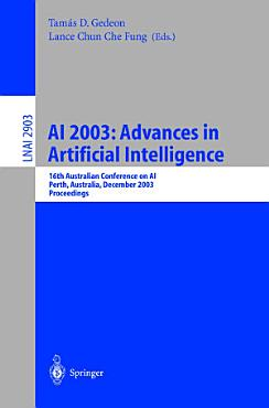 AI 2003  Advances in Artificial Intelligence PDF