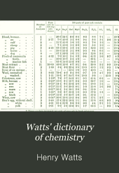 Watts' Dictionary of Chemistry: Volume 1