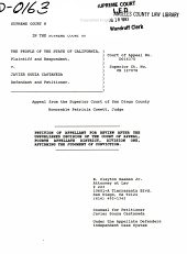 California. Supreme Court. Records and Briefs: S034540, Petition for Review
