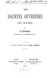 Les sociétés ouvrières de Gand