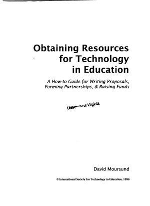 Obtaining Resources for Technology in Education PDF