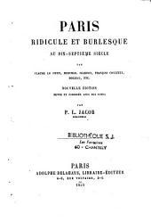 Paris ridicule et burlesque au XVIIe siècle