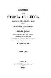 Sommario della storia di Lucca dall'anno MIV all'anno MDCC