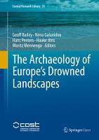 The Archaeology of Europe s Drowned Landscapes PDF