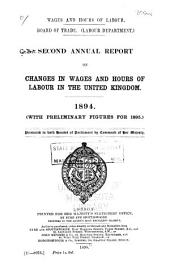 Wages and Hours of Labour ...: Report on Changes in Rates of Wages and Hours of Labour in the United Kingdom