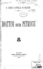 Boattini contro Petrucci