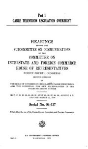 Cable Television Regulation Oversight PDF