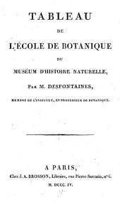 Tableau de l'École de Botanique du Muséum d'Histoire Naturelle