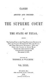 Reports of Cases Argued and Decided in the Supreme Court of the State of Texas: Volume 39