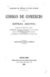 Código de comercio de la República Argentina ...