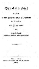 Synodalpredigten im Jahre 1812