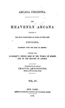 Arcana Coelestia PDF
