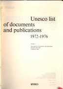 Unesco List of Documents and Publications PDF