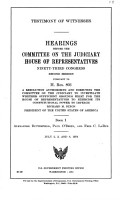Testimony of Witnesses  Alexander Butterfield  Paul O Brien  and Fred C  LaRue PDF