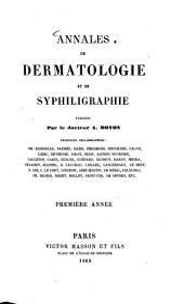 Annales de dermatologie et de syphiligraphie: Volume1