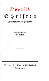 Novalis Schriften: Band 1