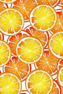Oranges Notebook  Dot Grid Journal  Softcover  6x9 Inches  with 120 Pages