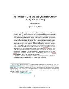 The Physics of God and the Quantum Gravity Theory of Everything PDF