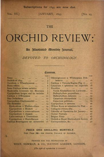 The Orchid Review PDF