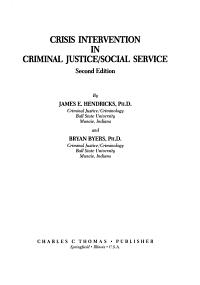 Crisis Intervention in Criminal Justice social Service PDF