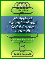 Methods of Educational and Social Science Research PDF