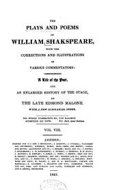 The plays and poems of William Shakspeare: Volume 8