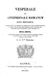 Vesperale, seu, Antiphonale romanum juxta breviarium