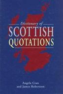 Dictionary of Scottish Quotations PDF