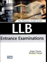 The Pearson Guide to the LLB Entrance Examinations PDF