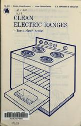 Clean Electric Ranges