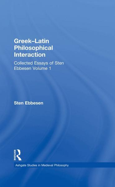 Greek–Latin Philosophical Interaction