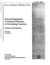 Informal Regulation of Industrial Pollution in Developing Countries: Evidence from Indonesia
